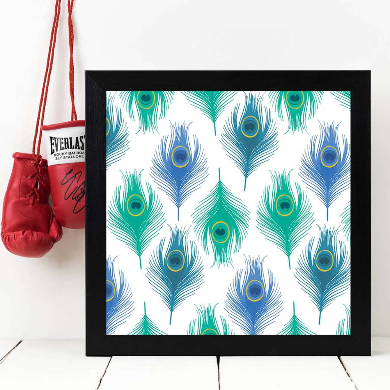 Peacock Feather  Framed Poster