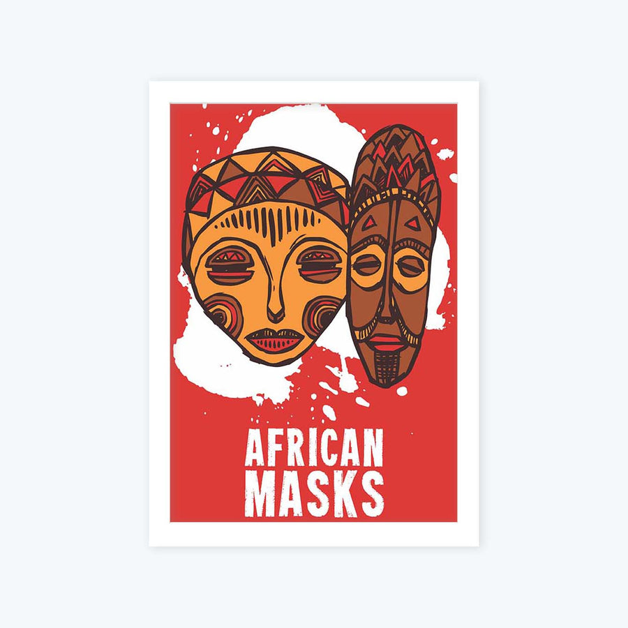 African Art Framed Poster