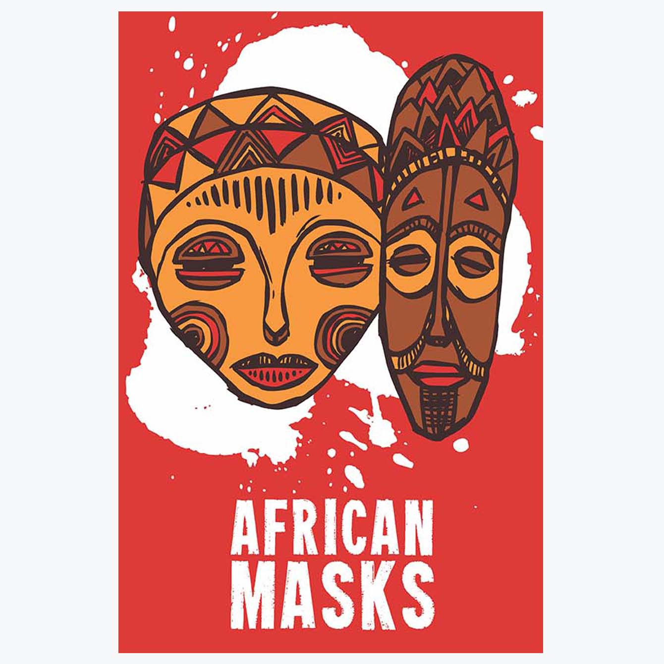 African Art Retro Posters