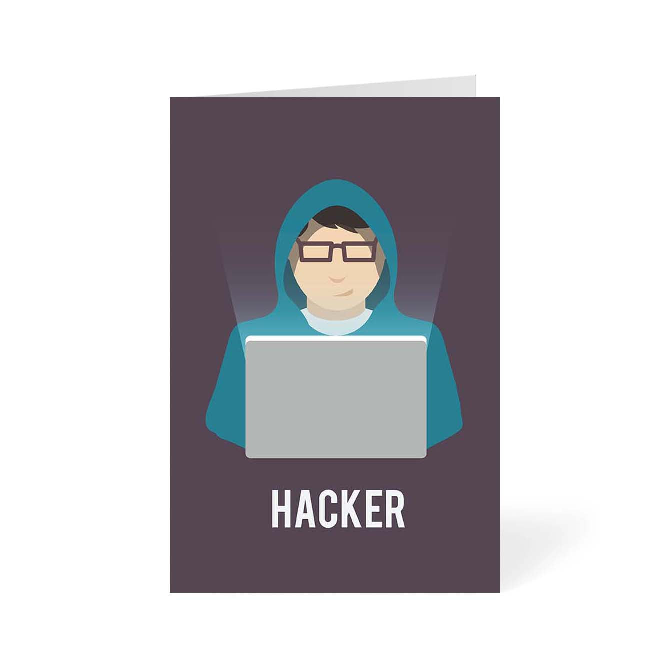 Hacker Humour Greeting Card Online