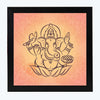Ganesha Spiritual Glass Framed Posters & Artprints