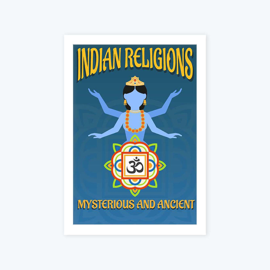 India Religion Framed Poster