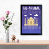 Taj Mahal Humour Glass Framed Posters & Artprints