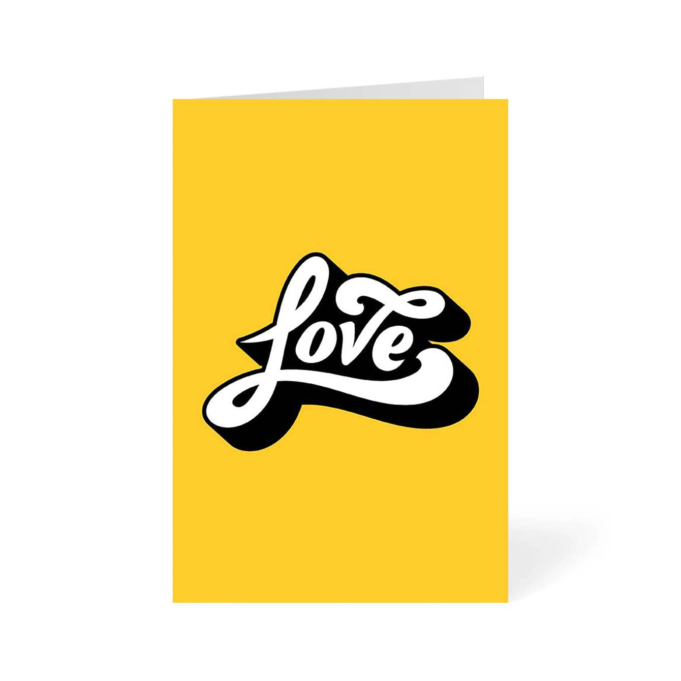 Love Typography Greeting Card Online