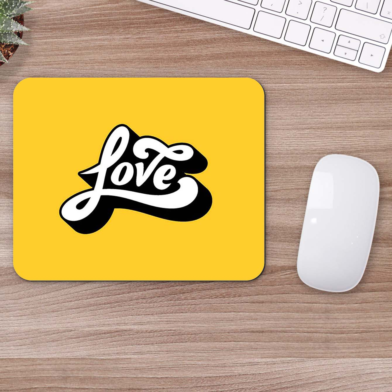 Buy Love Typography Mouse Pads Online