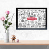 Travelling Doodle Doodle Glass Framed Posters & Artprints