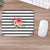 Stripe Flower Mouse Pad