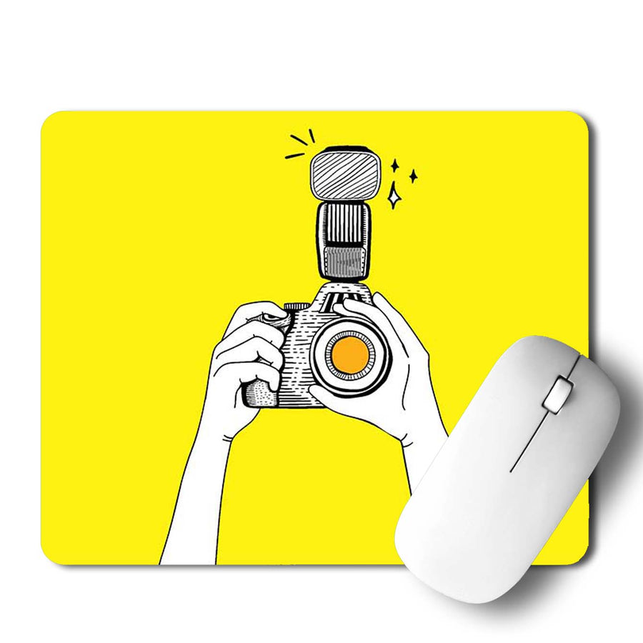 Camera Click Mouse Pad