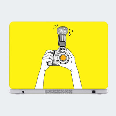 Camera Click Abstract Laptop Skin Online