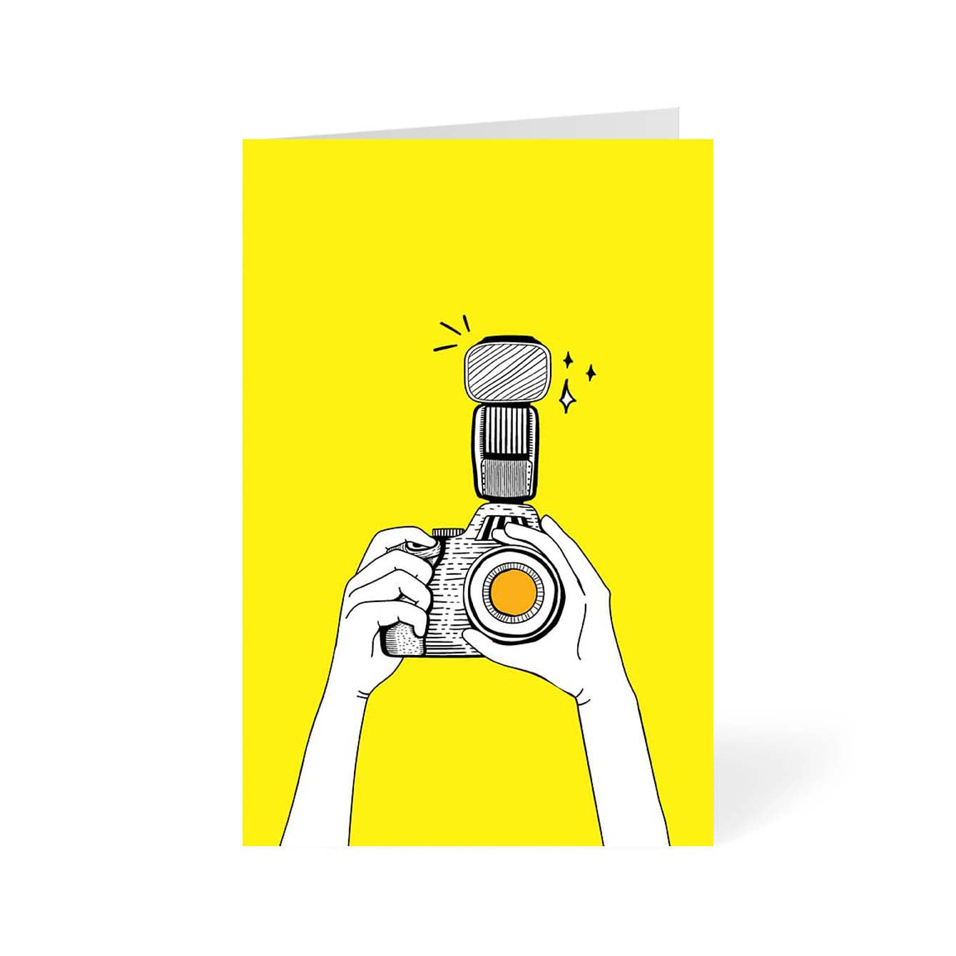 Camera Click Abstract Greeting Card Online