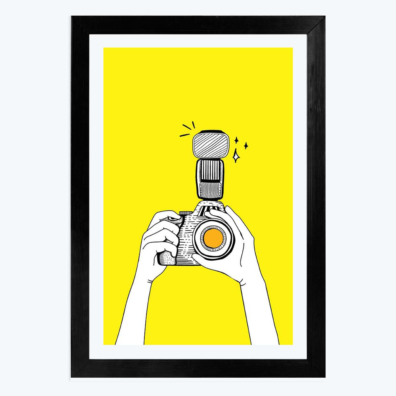 Camera Click   Framed Poster