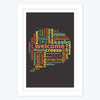 Welcome Multi Language   Framed Poster