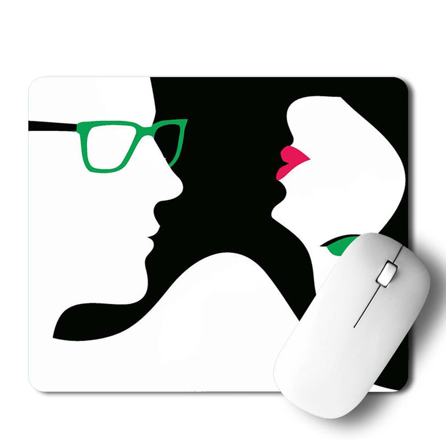 Women Couple Mouse Pad