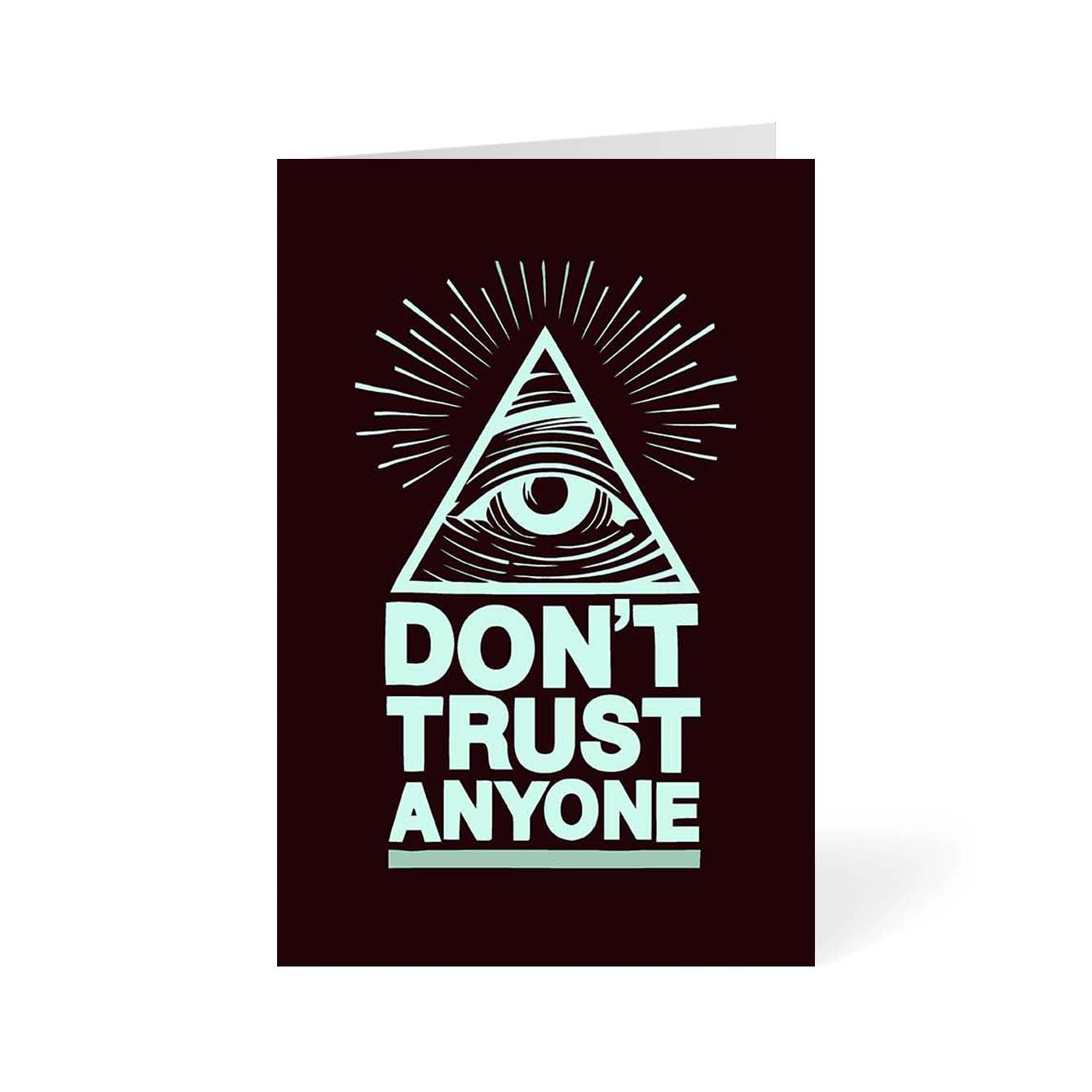 Don't Trust Anyone Pop Art Greeting Card Online