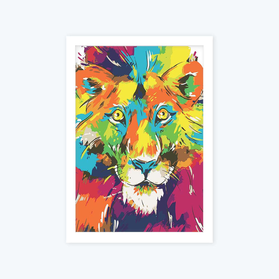 Lion Framed Poster