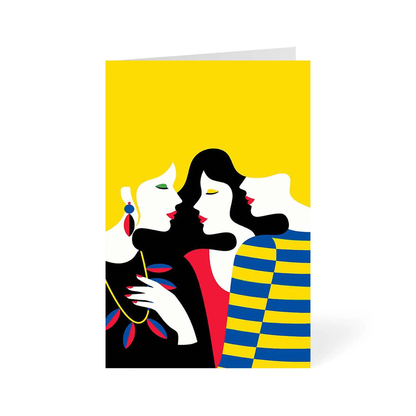 Couple Pop Art Greeting Card Online