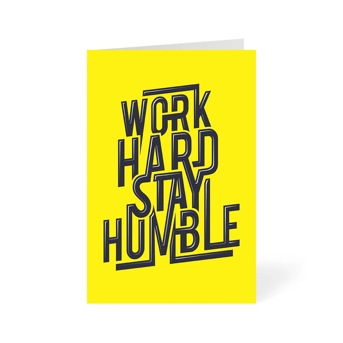 Work Hard Stay Humble Motivational Greeting Card Online