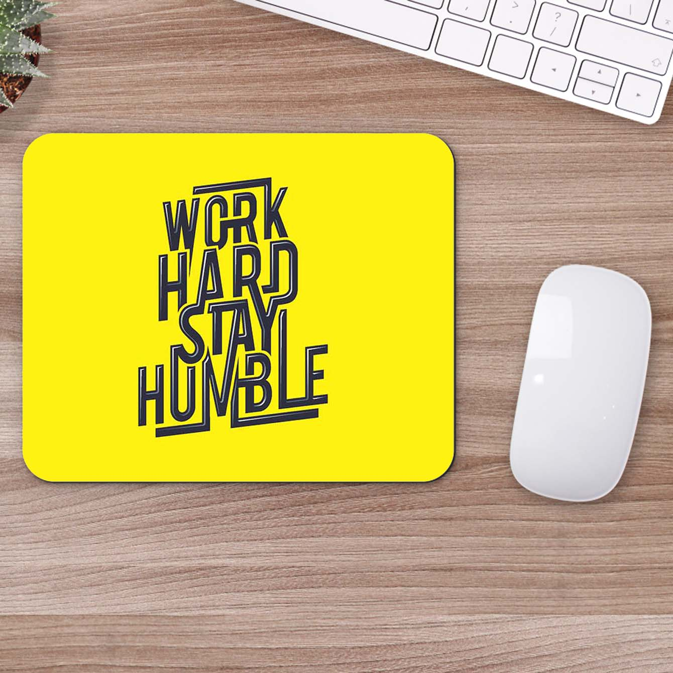 Buy Work Hard Stay Humble Motivational Mouse Pads Online