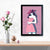 Pink Pop Lady Pop Art Glass Framed Posters & Artprints