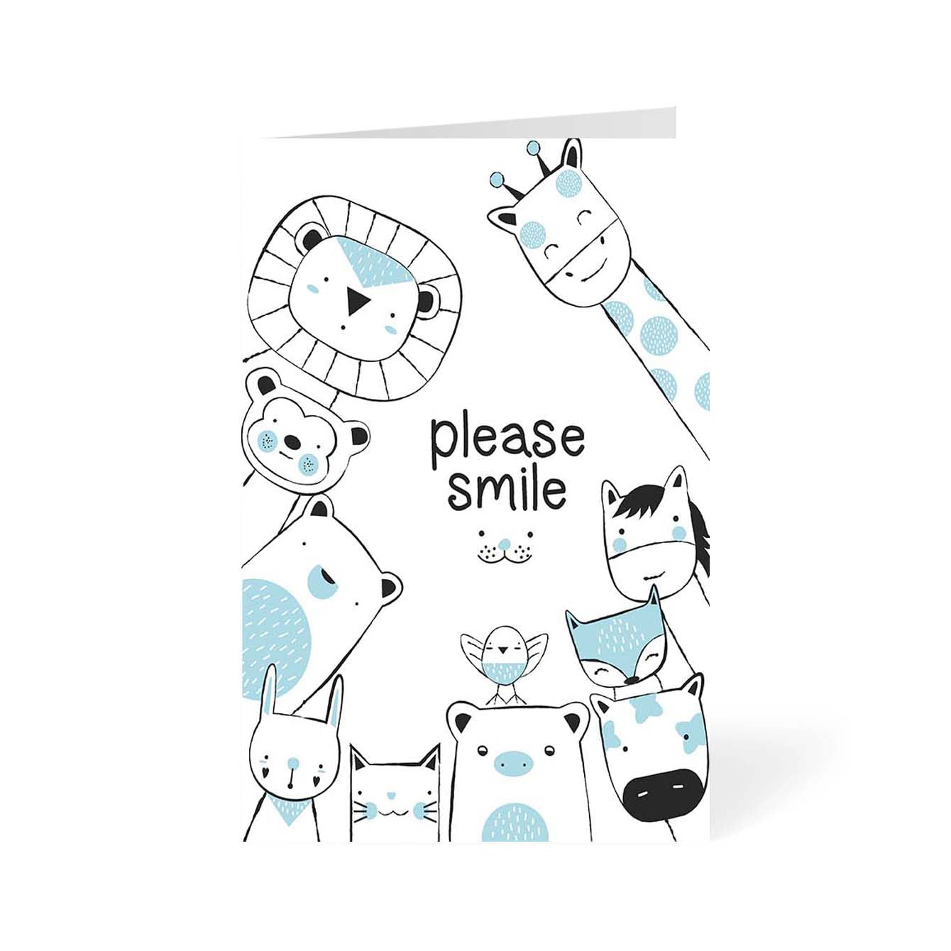 Please Smile Abstract Greeting Card Online