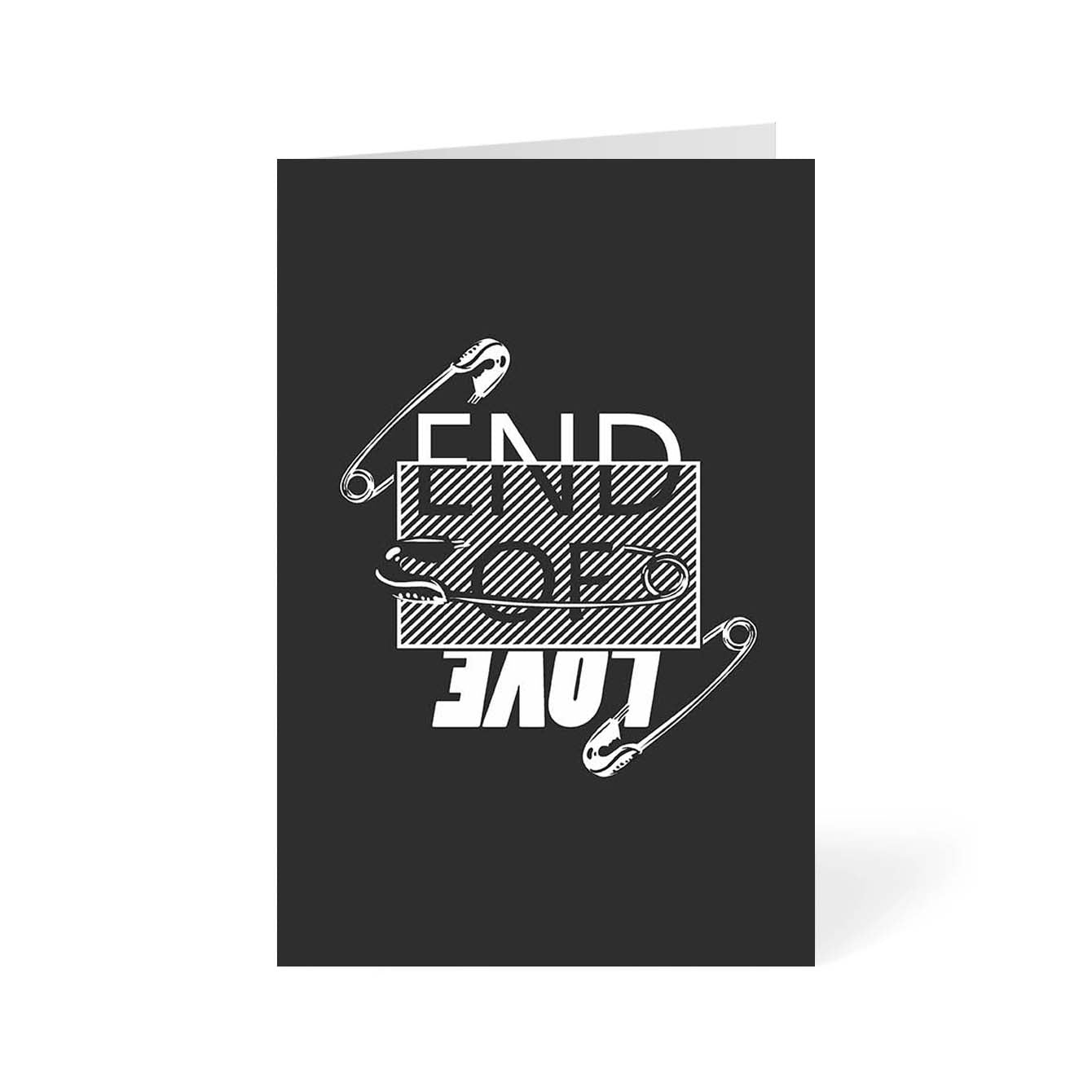 End of Love Typography Greeting Card Online