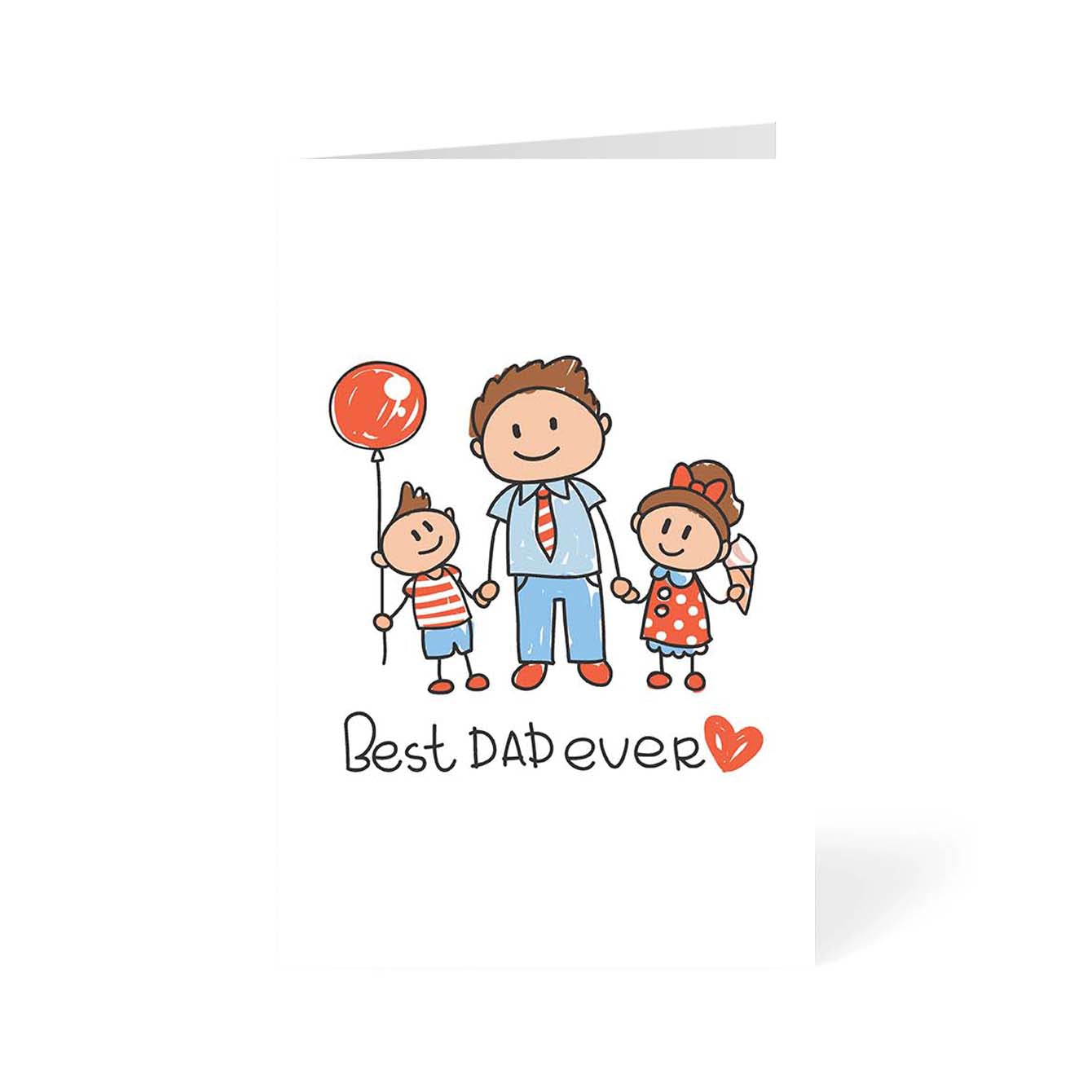 Best Dad Ever Typography Greeting Card Online