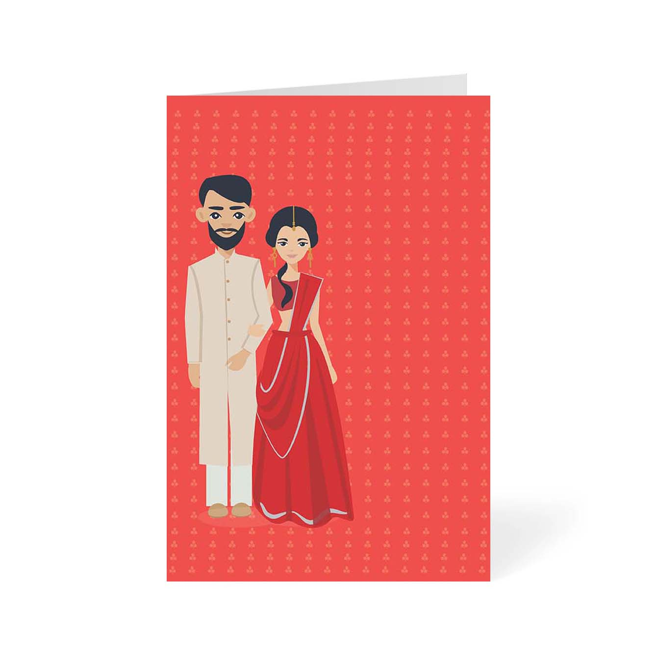 Indian Couple Abstract Greeting Card Online
