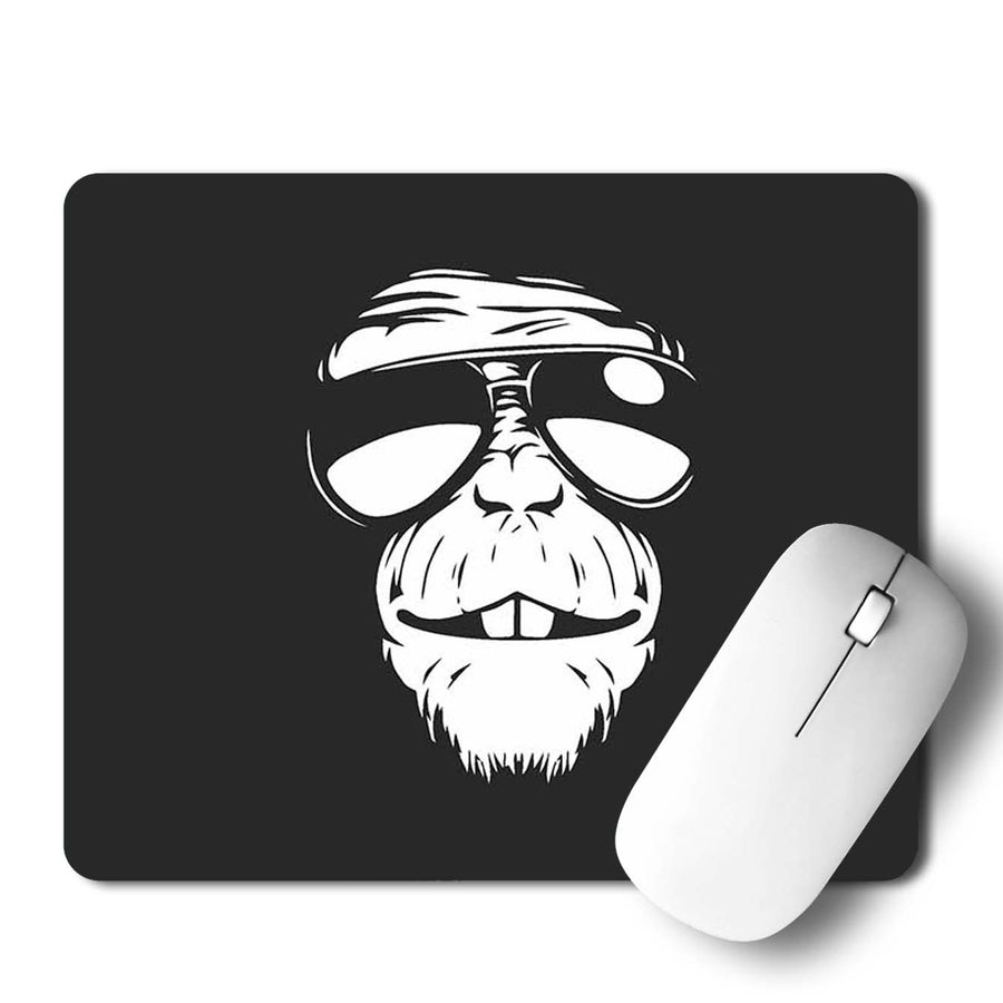 Monkey Glasses Mouse Pad