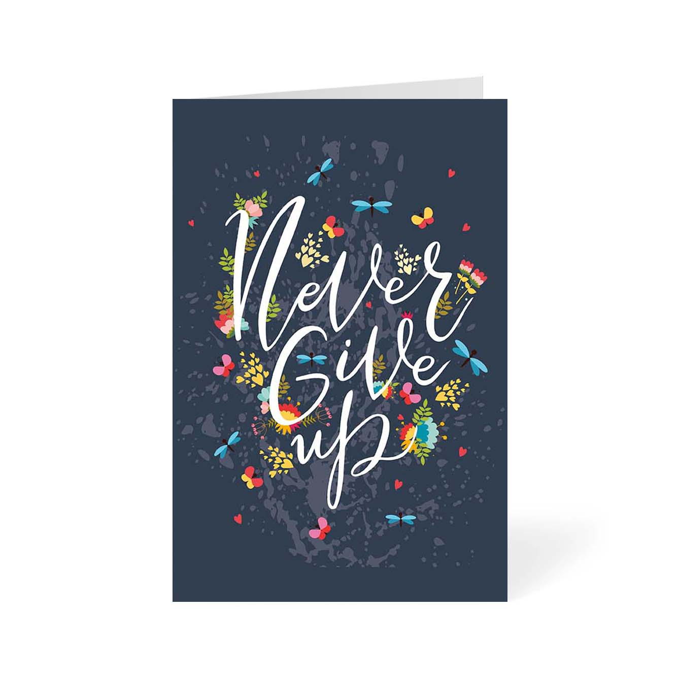 Never Give Up Motivational Greeting Card Online