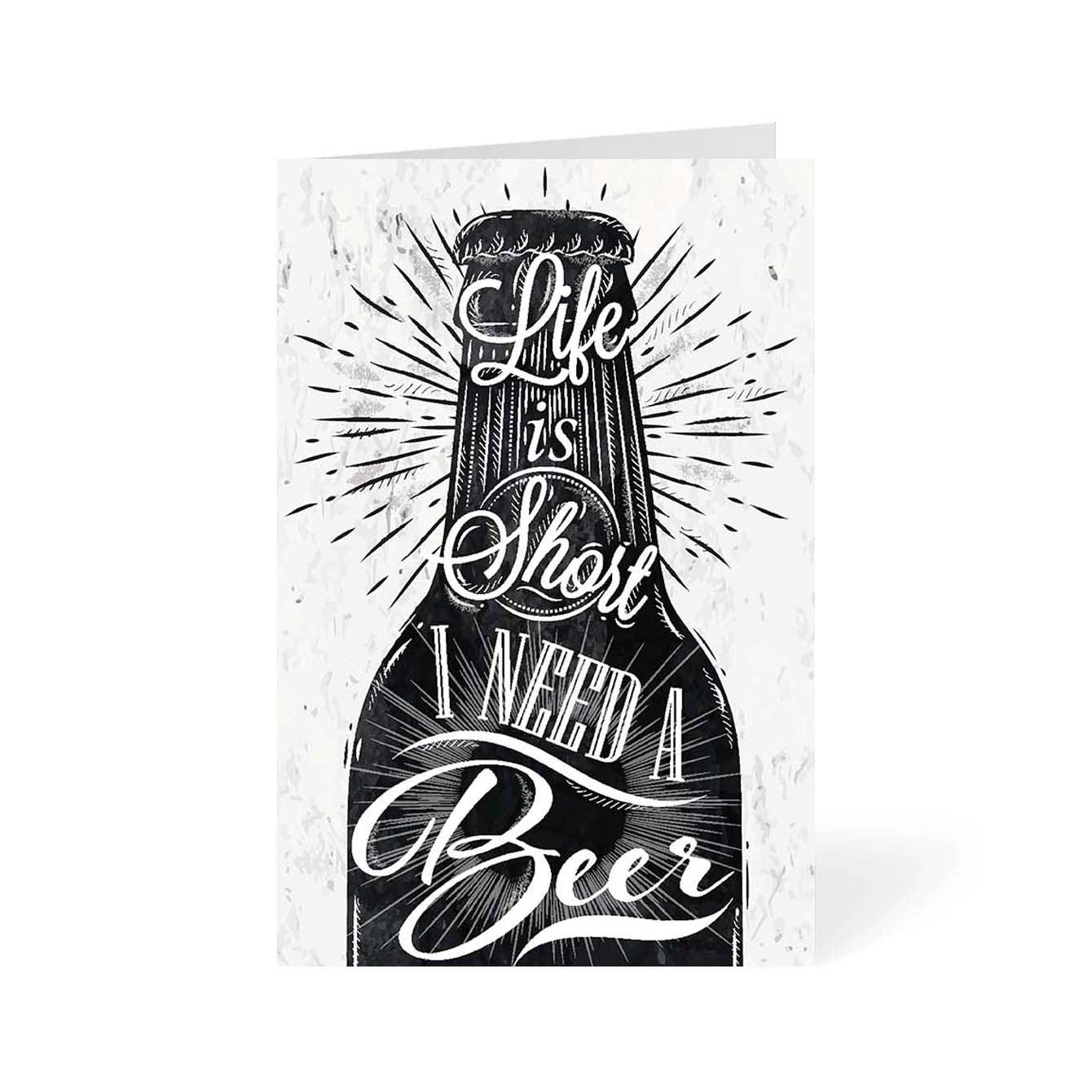I need a Beer Alcohol Greeting Card Online