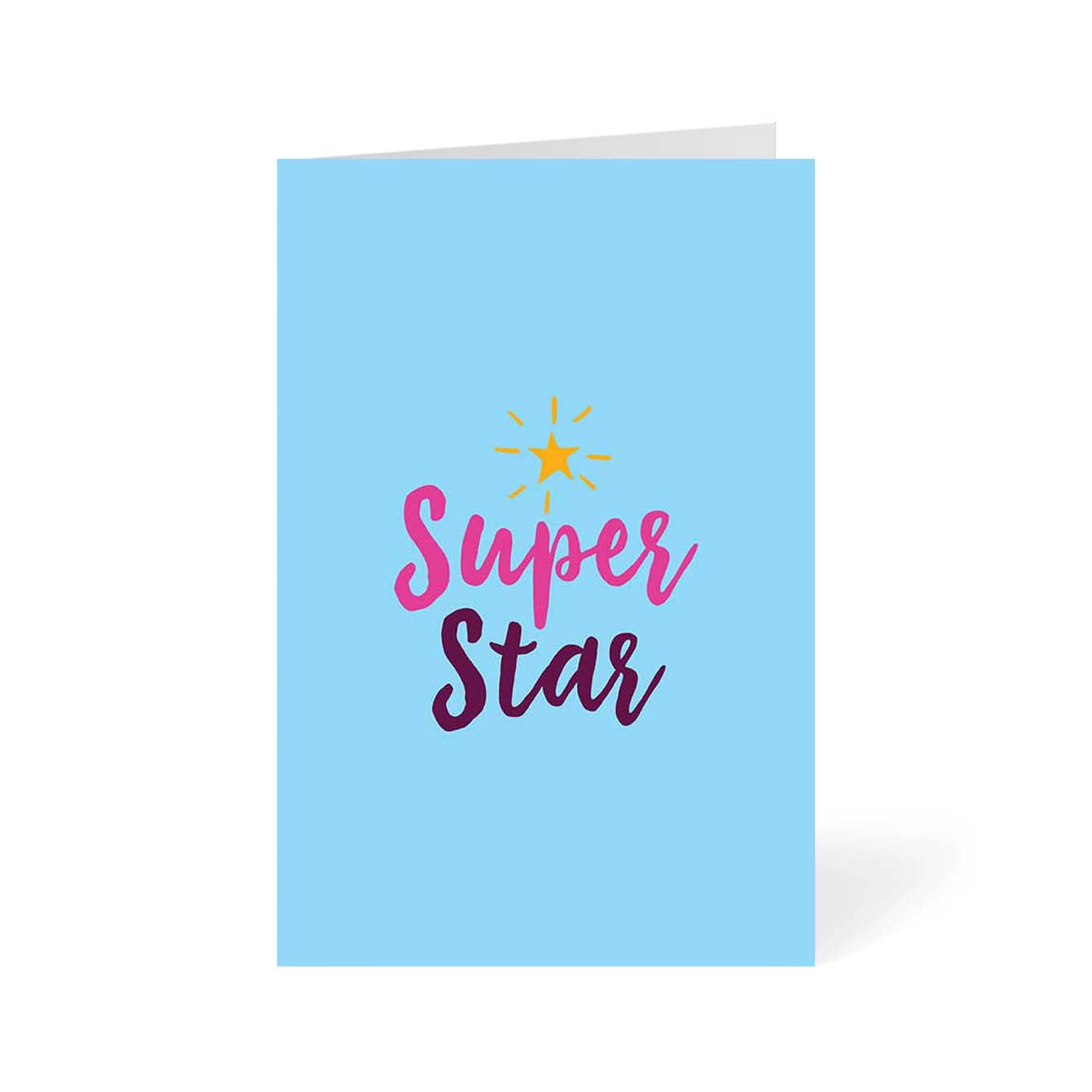 Super Star Typography Greeting Card Online