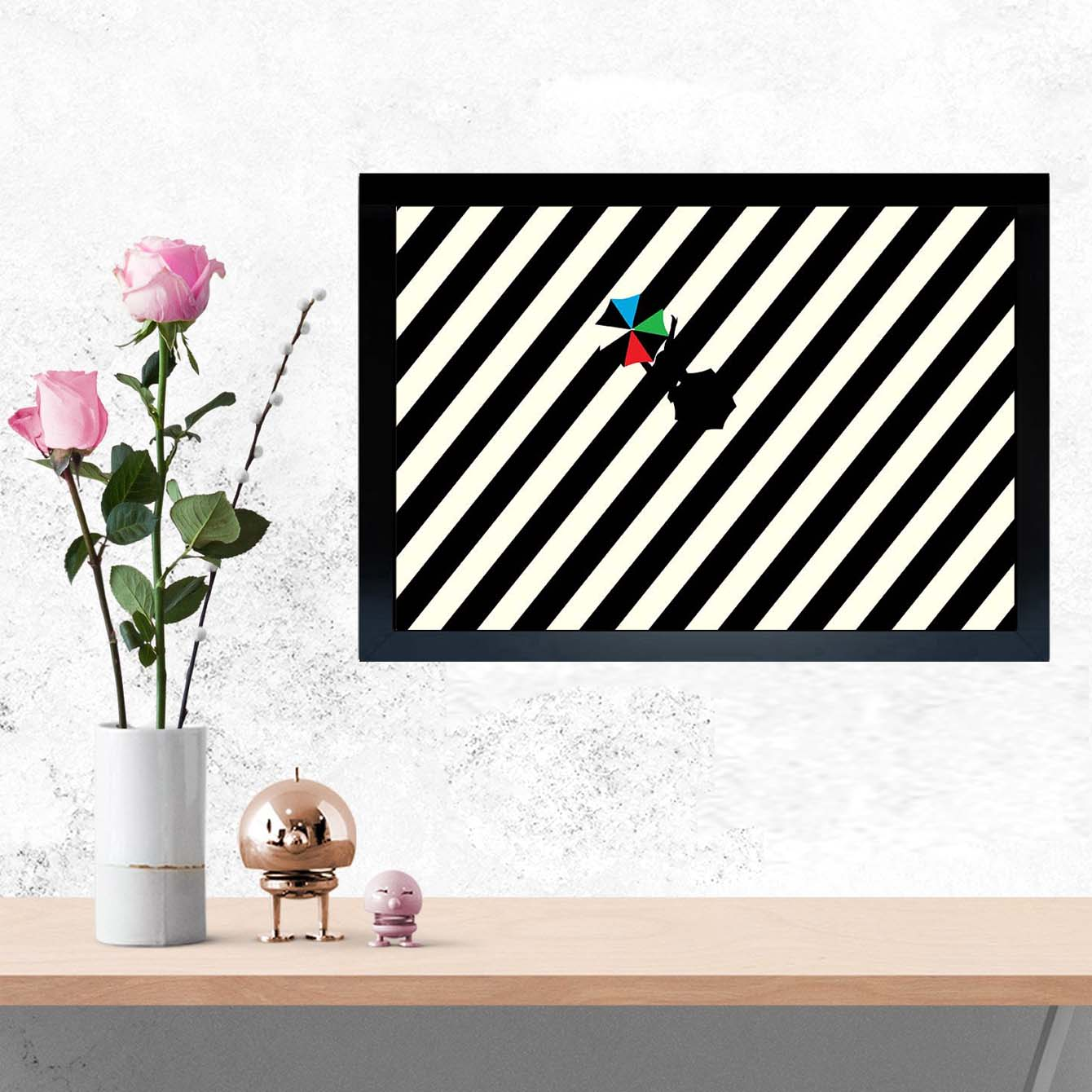 Stripe Lane Pop Art Glass Framed Posters & Artprints