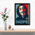 Hope Pop Art Glass Framed Posters & Artprints