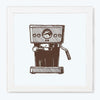 Coffee Maker Retro Glass Framed Posters & Artprints