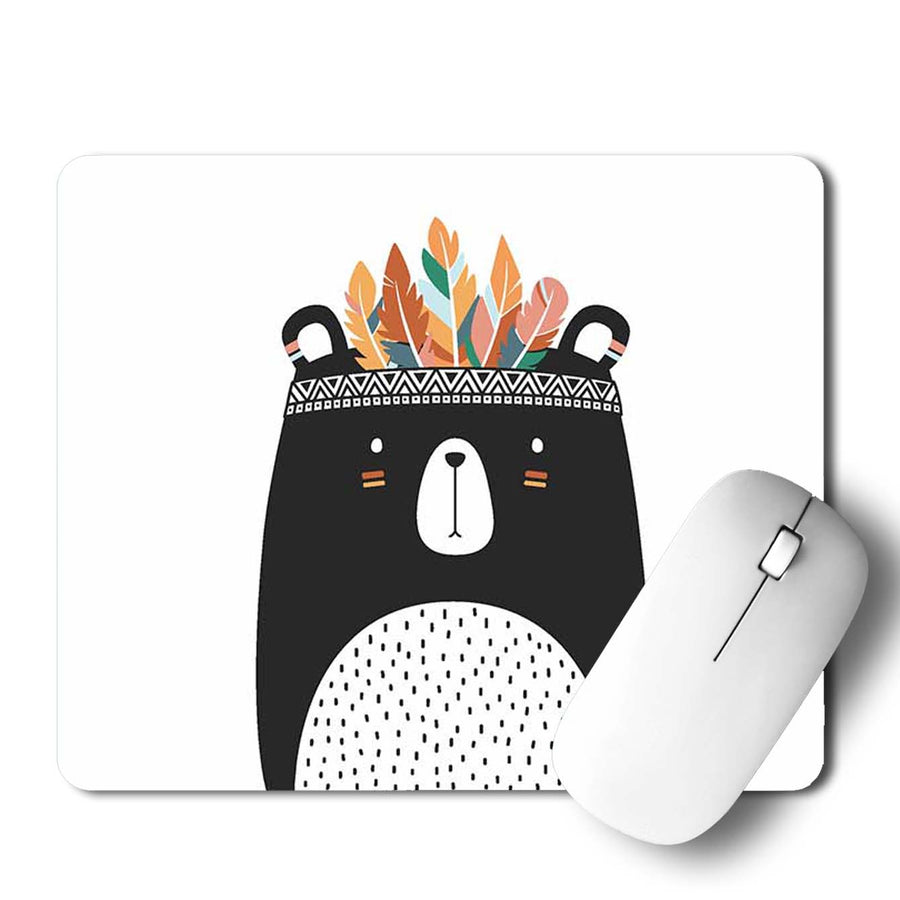 Bear Tribal Style Mouse Pad