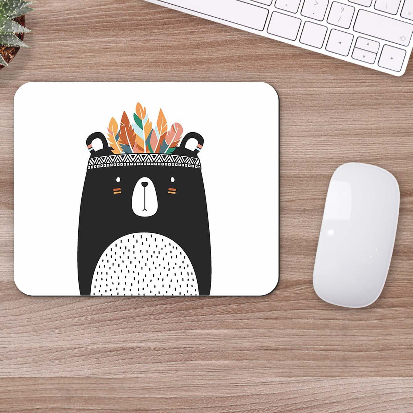 Buy Bear Tribal Style Pop Art Mouse Pads Online