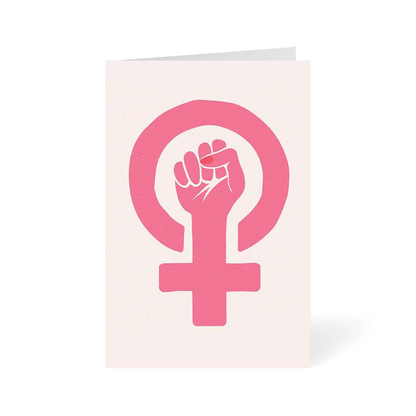 Woman Power Feminist Greeting Card Online