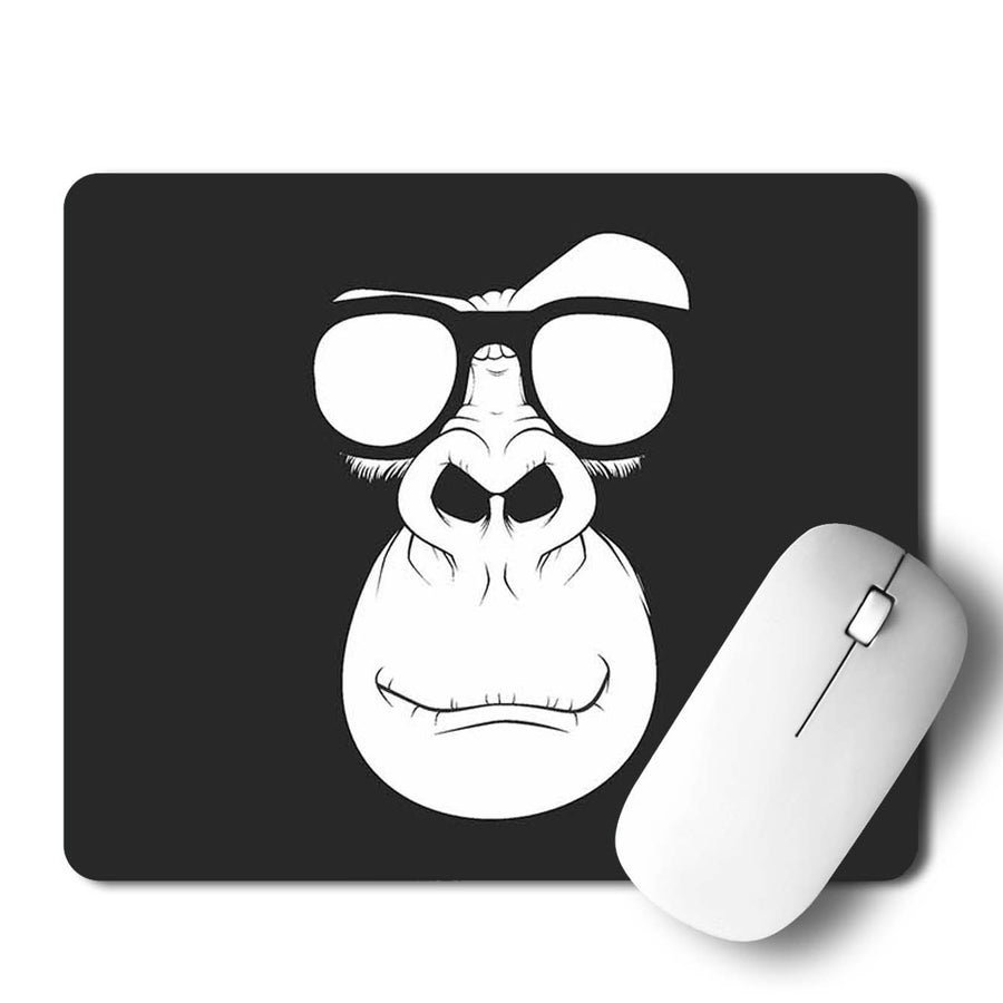 Monkey Glass Mouse Pad