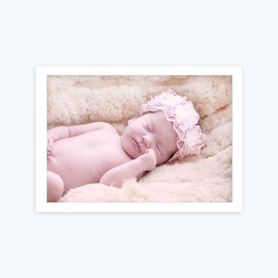 Cute Baby Sleeping Baby Glass Framed Posters & Artprints
