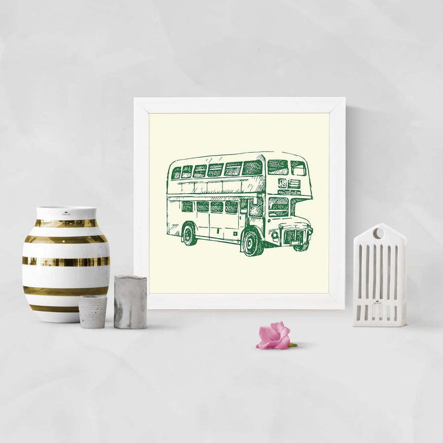 Vintage Bus   Framed Poster