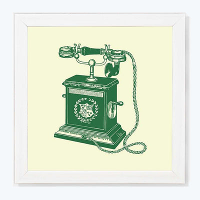 Vintage Telephone Retro Glass Framed Posters & Artprints
