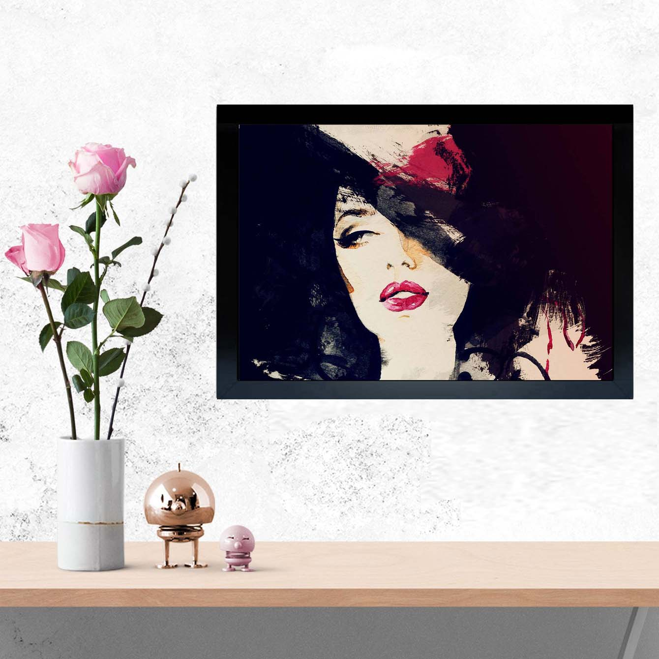 Pop lady Framed Painting