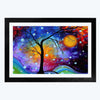 Colorful Abstract Glass Framed Painting