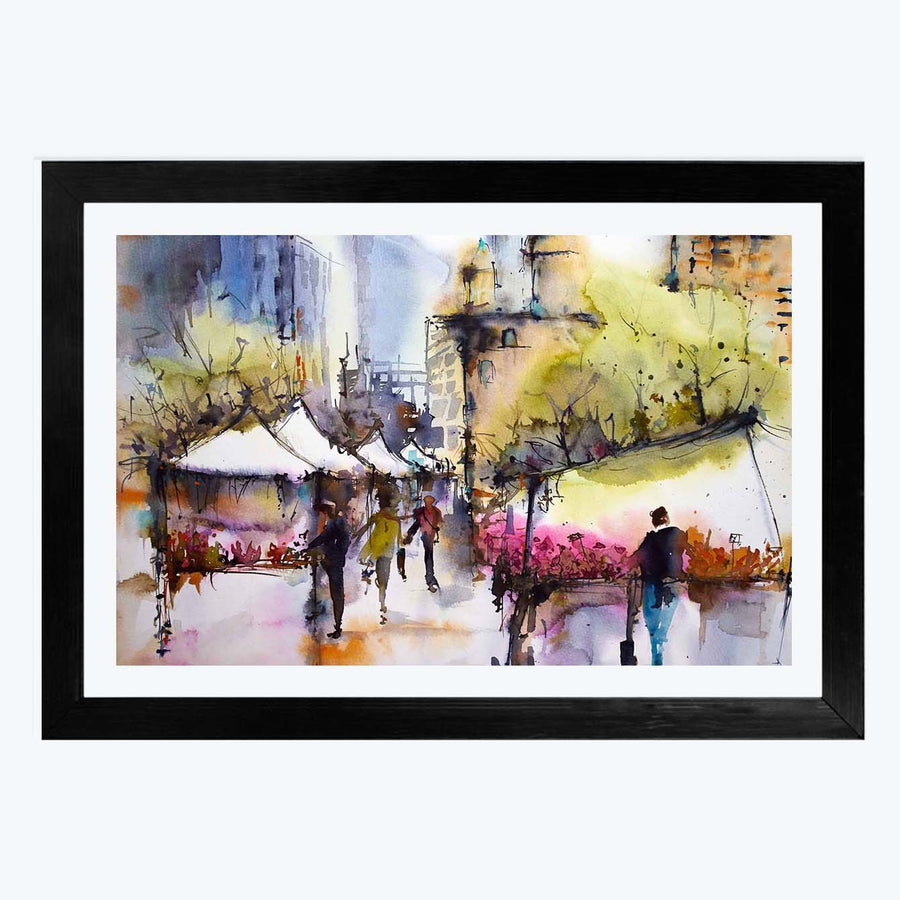 Water Color Framed Painting