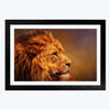 Lion face Animal Glass Framed Painting