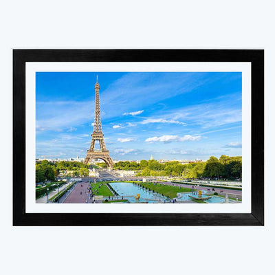 Eiffel Tower Cities Glass Framed Painting