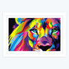 Pop art Lion Framed Painting