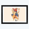 Lord Ganesha Spiritual Glass Framed Painting