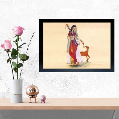 Indian Lady Framed Painting