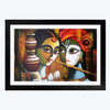 Radhe Krishna Spiritual Glass Framed Painting
